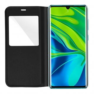 Klapphülle mit Sichtfenster für Xiaomi Mi Note 10 Lite ? Schwarz - Vorschau 4