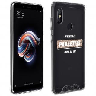 """Handyhülle für Xiaomi Redmi Note 5, Made in France ? """" Paillettes"""" Design"""