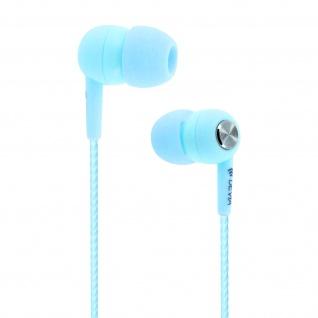 Devia in-ear Kopfhörer 3.5mm Klinkenstecker, Mikrofon & Fernbedienung - Blau