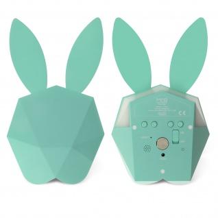 Cutty Clock Bluetooth Wecker by MOB, einzigartiges Hase Design - Pastel Blau