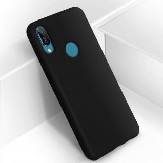 Halbsteife Silikon Handyhülle Huawei Y6 2019, Soft Touch - Schwarz