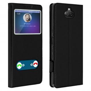 Sony Xperia 10 Flip Cover Doppelfenster & Standfunktion � Schwarz