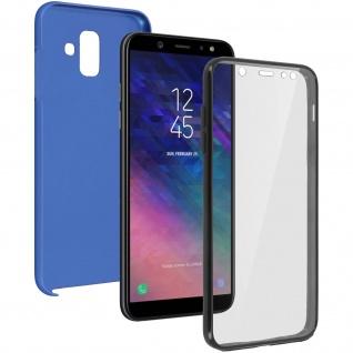 Schutzhülle für Samsung Galaxy A6, Vorder- + Rückseite - Blau