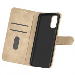 Flip Cover Geldbörse, Etui Kunstleder für Oppo Find X3 Lite ? Gold