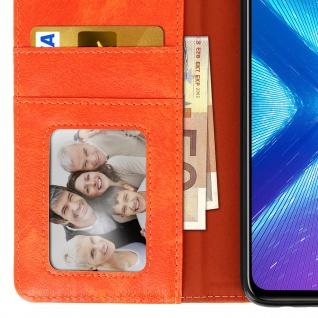 Flip Stand Cover Brieftasche & Standfunktion Huawei Honor 8X - Orange - Vorschau 5