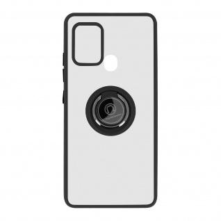 Hybrid Handyhülle mit Ring-Halterung für Galaxy A21s ? Schwarz