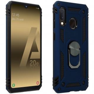 Hybrid Handyhülle mit Ring Halterung für Samsung Galaxy A20e ? Dunkelblau