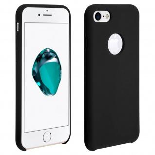Apple iPhone 7, iPhone 8 stoßfeste Soft Touch Schutzhülle - Schwarz