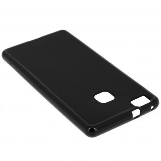 Flexible Schutzhülle aus Silikon für Huawei P9 Lite - Schwarz