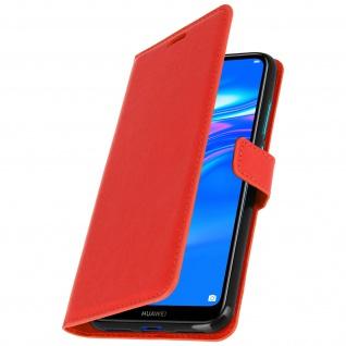 Flip Stand Cover Brieftasche & Standfunktion für Huawei Y7 2019 - Rot - Vorschau 2