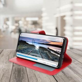 Flip Stand Cover Brieftasche & Standfunktion für Huawei P30 Pro - Rot - Vorschau 4