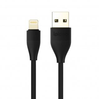 USB / Lightning Ladekabel / Datenkabel, Kabellänge: 1m, Ipipoo - Schwarz