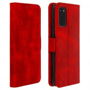 Klapphülle mit Kartenfächer / Standfunktion für Samsung Galaxy S20 - Rot
