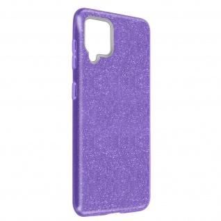 Schutzhülle, Glitter Case Samsung Galaxy A42 5G, shiny & girly Hülle â€? Violett