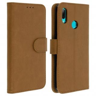 Flip Cover, Kunstlederetui für Huawei P Smart 2019, Honor 10 Lite - Braun