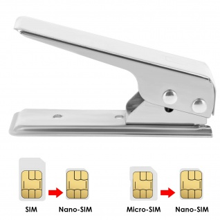 SIM-Kartenschneider Nano-SIM Karte + Micro-SIM Adapter + SIM-Karten-Slot-Öffner