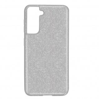 Schutzhülle, Glitter Case für Samsung Galaxy S21, shiny & girly Hülle â€? Silber