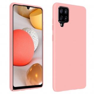 Halbsteife Silikon Handyhülle für Samsung Galaxy A42 5G, Soft Touch - Rosa
