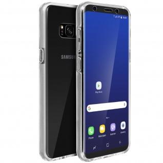 Schutzhülle für Samsung Galaxy S8, Vorder- + Rückseite ? Transparent