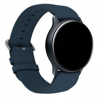 Galaxy Watch Active 2 44mm Kunstleder Ersatzarmband mit Dornschließe ? Blau