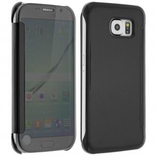 Schwarze Clear View Schutzhülle für Samsung Galaxy S6