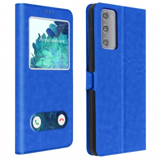 Samsung Galaxy S20 FE Cover Doppelfenster & Standfunktion � Blau