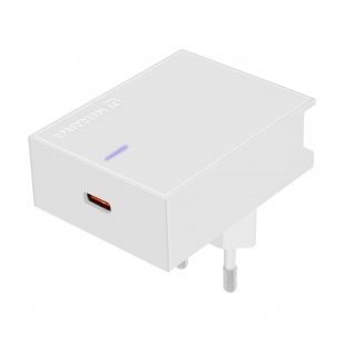 USB-C-Netzteil, 18W-Schnellladegerät, Swissten Slim Series â€? Weiß
