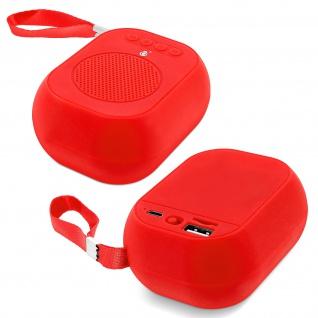 F4314 Bluetooth kabelloser BTS Lautsprecher mit Mikrofon - Rot