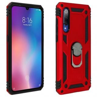 Hybrid Handyhülle mit Ring Halterung für Xiaomi Mi 9 - Rot
