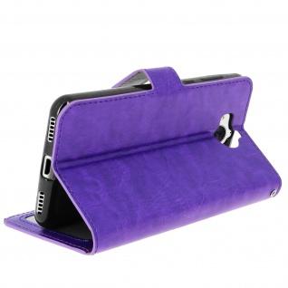 Flip-Cover Stand Case Brieftasche & Standfunktion für Huawei Y6 2017 - Violett - Vorschau 5