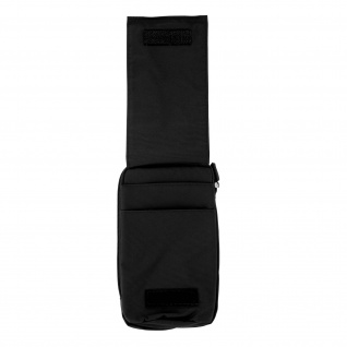 Universal Tasche mit vielen Fächern Schwarz - Karabiner & Gürtelschlaufe