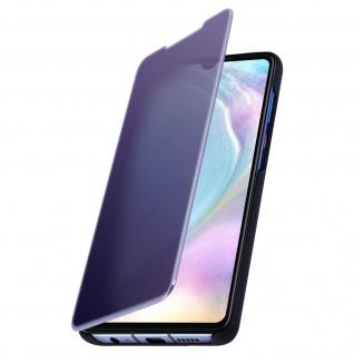 Huawei P30 Flip Cover mit Spiegeleffekt & Standfunktion - Dunkelblau