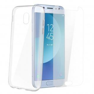 Samsung Galaxy J7 2017 Schutz-Set - transparente Hülle + Glas-Displayschutzfolie