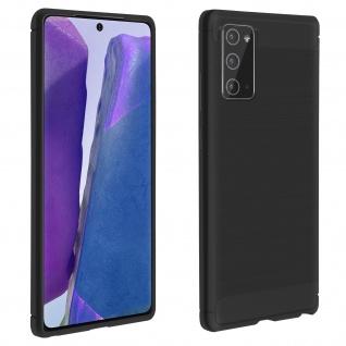 Samsung Galaxy Note 20 Schutzhülle mit Aluminium und Carbon Design ? Schwarz