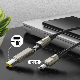 Lenovo USB-C 2-in-1, USB-C / quadratischer Stecker Kabel, Baseus - Schwarz - Vorschau 4