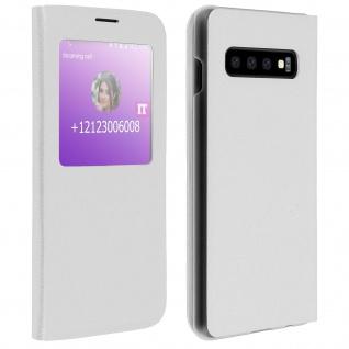 S-View Flip Cover mit Sichtfenster & Kartenfach für Samsung Galaxy S10 â€? Weiß
