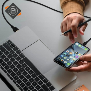 USB / Lightning Kabel, Aufladen & Sync., Kabellänge: 2m ? Schwarz - Vorschau 3