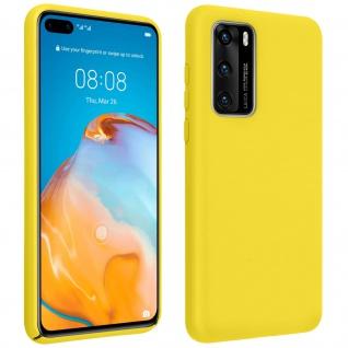 Halbsteife Silikon Handyhülle Huawei P40, Soft Touch - Gelb