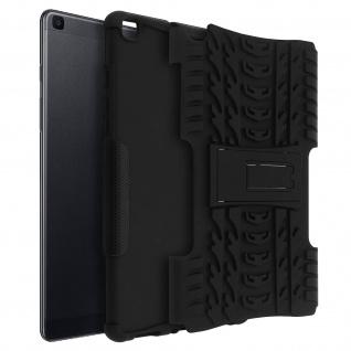 Stoßfeste Schutzhülle + Standfunktion für Galaxy Tab A 8.0 2019 - Schwarz