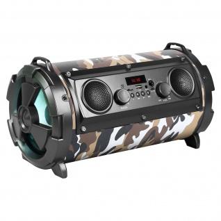Bluetooth Lautsprechre SoundTube Karaoke Stereo LED 8Std REBELTEC - Grün