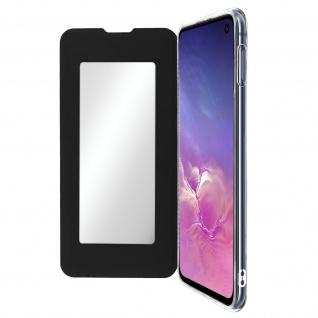 Spiegel Hülle, dünne Klapphülle für Samsung Galaxy S10e - Schwarz