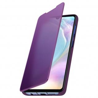 Huawei P30 Flip Cover mit Spiegeleffekt & Standfunktion - Violett