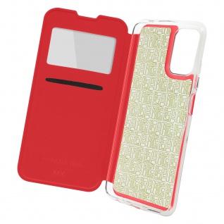 Xiaomi Redmi Note 10 Pro Etui Sichtfenster & Kartenfach, mit Gelhülle ? Rot