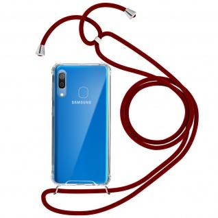 Handykette Handyhülle mit Halsband für Samsung Galaxy A30 - Rot