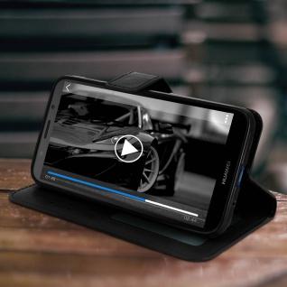 Flip Stand Cover Brieftasche & Standfunktion Huawei Y5 2018/Honor 7S - Schwarz - Vorschau 5