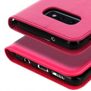 Flip Stand Cover Brieftasche & Standfunktion für Samsung Galaxy S10e - Rosa - Vorschau 5