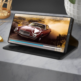 Business Leder Cover, Schutzhülle mit Geldbörse Galaxy Note 10 - Schwarz - Vorschau 5