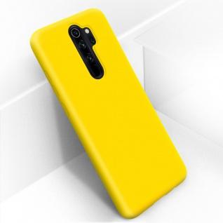 Halbsteife Silikon Handyhülle Xiaomi Redmi Note 8 Pro, Soft Touch - Gelb - Vorschau 2