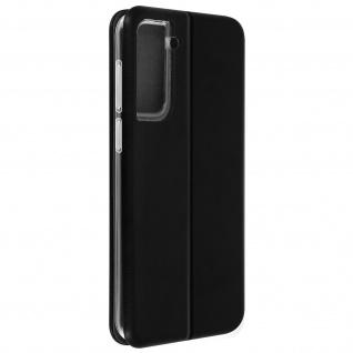 Samsung Galaxy S21 Kunstlederhülle mit Kartenfach & Standfunktion ? Schwarz