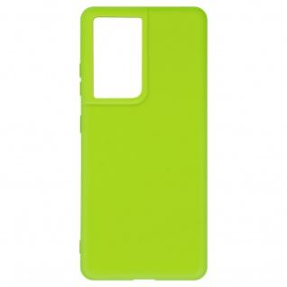 Halbsteife Silikon Handyhülle für Samsung Galaxy S21 Ultra, Soft Touch ? Grün